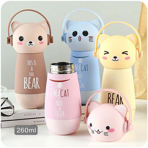 Earmuff Animals 9oz. Insulated Drink Bottle