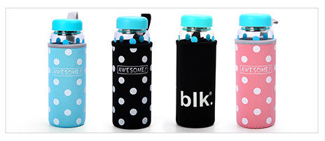 Insulated Drink Bottle Sleeve - Polka Dots