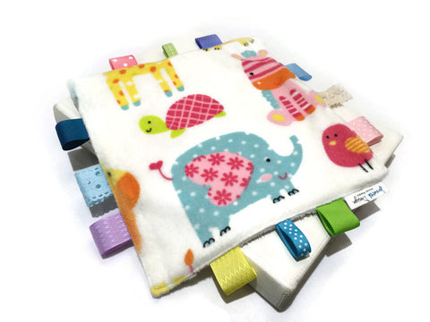Minky Taggie Blanket - Animals