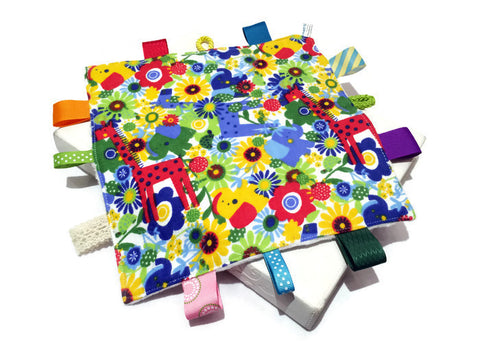 Minky Taggie Blanket - Flower Jungle