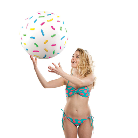 Giant Donut Hole (Timbits) Beach Ball
