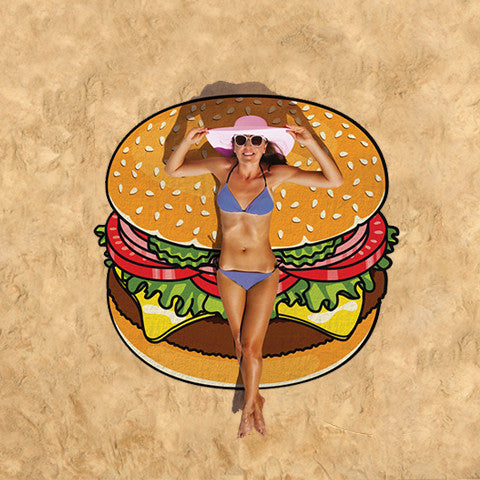 Summer Fun Beach Blanket/Towel - Burger