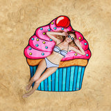 Summer Fun Beach Blanket/Towel - Cupcake