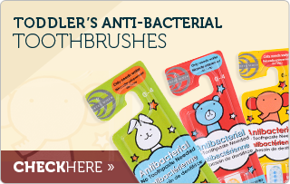 Toddler's Toothpaste-FREE Antibacterial Toothbrush