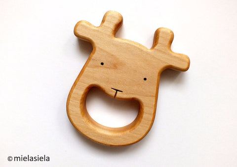 Wooden Deer Teether