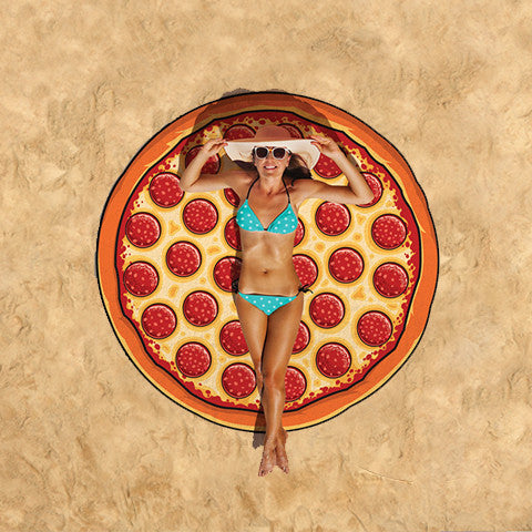Summer Fun Beach Blanket/Towel - Pizza