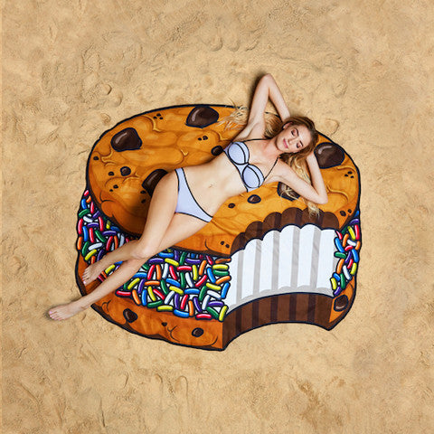 Summer Fun Beach Blanket/Towel - Ice-cream Sandwich