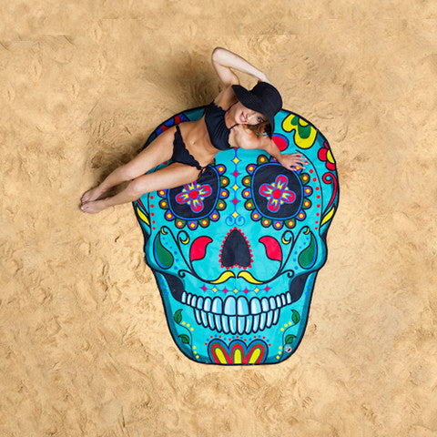 Summer Fun Beach Blanket/Towel - Sugar Skull