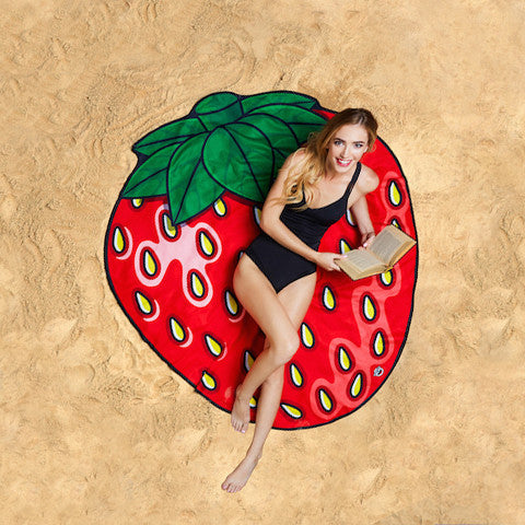 Summer Fun Beach Blanket/Towel - Strawberry