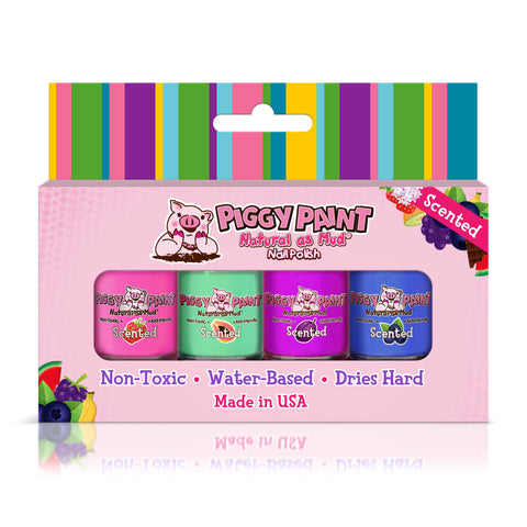 Piggy Paint - 4pcs Fruity SCENTED Gift Set