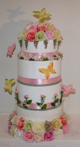 Butterfly Wedding Card Reception Box - 5 tier
