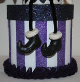 """Bird on a Shoulder"" Whimsical HALLOWEEN Gift Box/Centerpiece/Decoration.  SOLD"