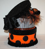 "A Halloween ""Hatbox Full of Spiders"" Centerpiece/Gift Box/Decoration"