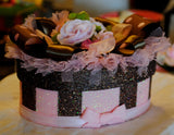 Brown and Pink Floral GIFT BOX/Keepsake