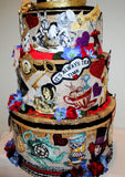"""Alice in Wonderland"" Large 4 Tier Wedding Card /Reception Box Fantasy"