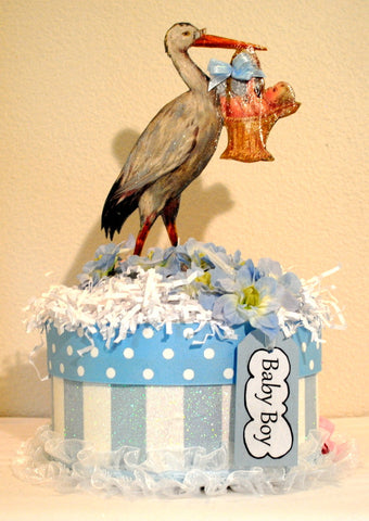 Baby Boy Shower Decorated Centerpiece/Gift Box/Keepsake