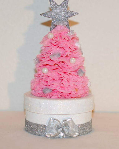 Pink Christmas Tree Gift Box