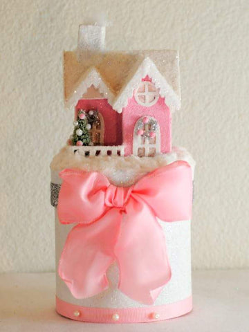 Pink Cottage Christmas Gift Box