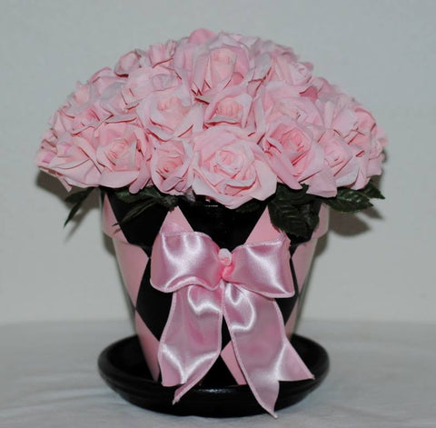 Pink In Bloom Paper Flower Pot