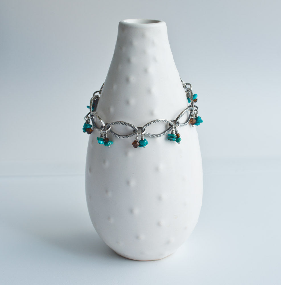 handmade turquoise and silver bracelet