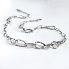Handmade Fine Silver Chain Artisan Necklace