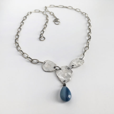 Blue Peruvian Opal Necklace