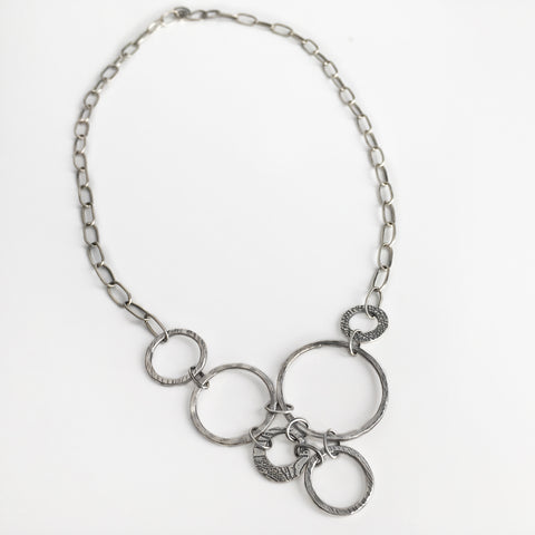 Modern Design Circles Necklace