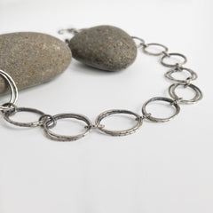 Silver Double Link Chain Necklace