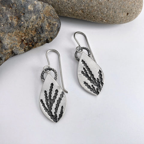Silver Evergreen Earrings