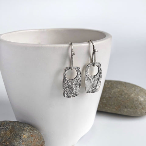 Rectangle Fern Print Earrings