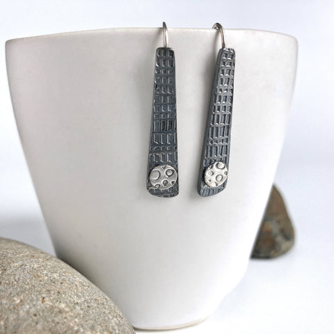 Dark Silver Earrings