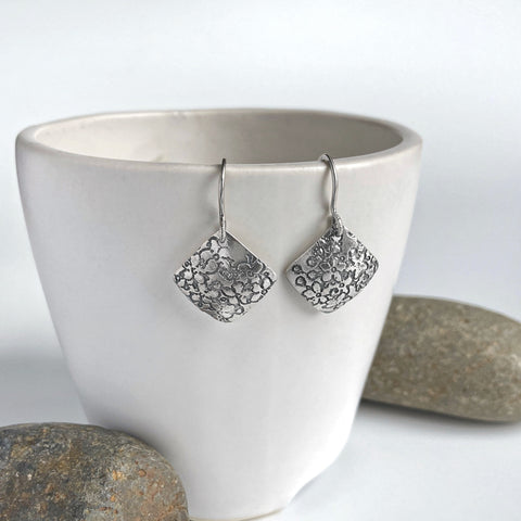 Cherry Blossom Earrings in Silver
