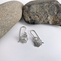 small nasturtium earrings in silver