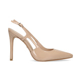 0111_Tacones altos Debrecon 04 | Tacones de Piel Beige - Michel Domit