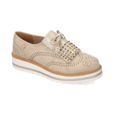 0150_Mocasines Ruse 10 | Mocasin de Tela Beige - Michel Domit