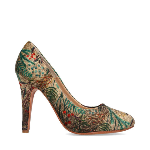 2244_Zapatilla Lyss 04 | Tacones Altos de Tela Verdes - Michel Domit