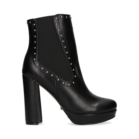 2244_Botin Hodonin 12 | Tacones Altos Negros - Michel Domit
