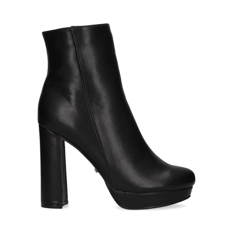2244_Botin Hodonin 15 | Tacones Altos Negros - Michel Domit