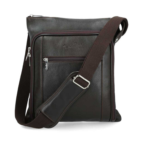 Crossbody Michel Domit de Piel Café | Tatabanya 04