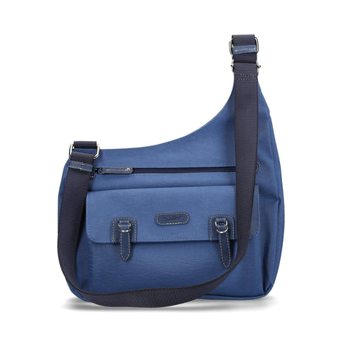 Crossbody Michel Domit de Piel Azul | Trujui 12