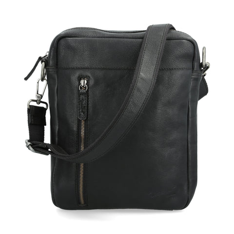 Crossbody Michel Domit de Piel Negro | Muttenz 09