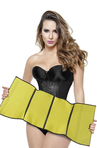 Neo Latex Sauna Long Torso Waist Cincher #2039