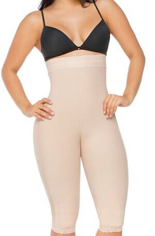 High waist Moderate Compression butt lifting capris #0219