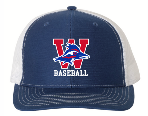 Baseball mesh-back hat