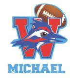 Football Car Decal: Varsity