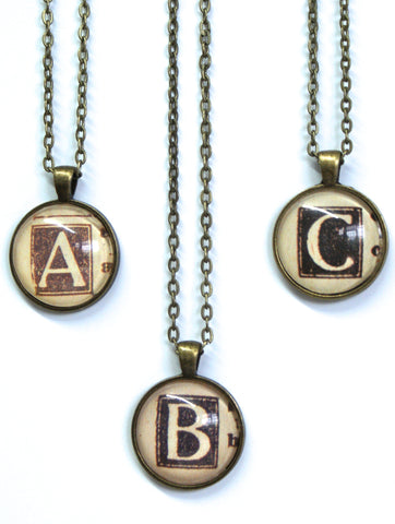 Monogram Small Pendants-Small Pendant-Paper Towns Vintage