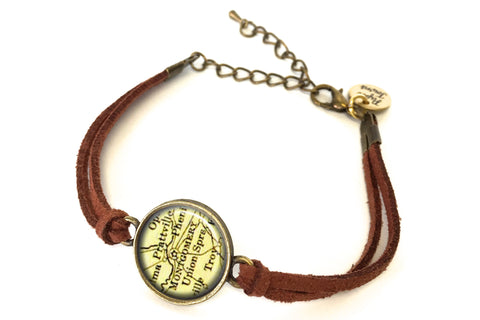 Montgomery, Alabama Map Bracelet