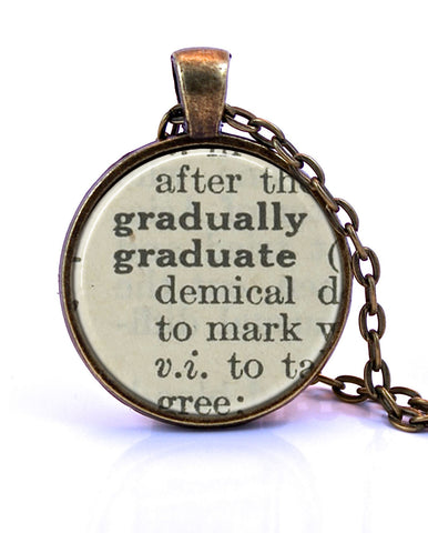 Graduate Dictionary Pendant Necklace-Small Pendant-Paper Towns Vintage