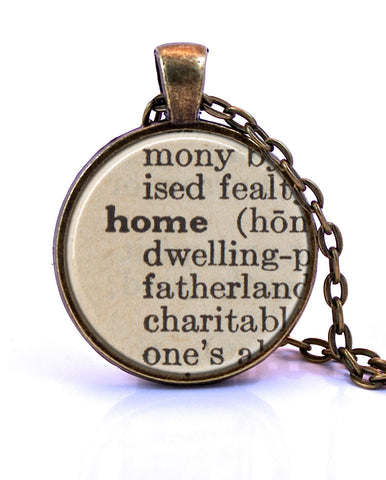 Home Dictionary Pendant Necklace-Small Pendant-Paper Towns Vintage