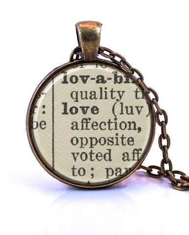 Love Dictionary Pendant-Small Pendant-Paper Towns Vintage